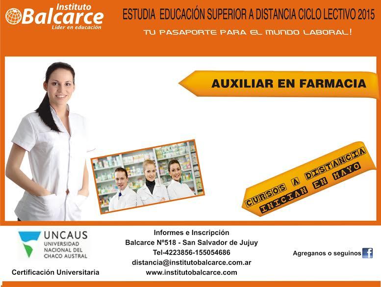 curso de auxiliar de farmacia en lomas de zamora gratis